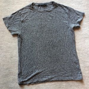 Grey knit brandy Melville short sleeve shirt